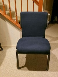 blue fabric padded office or church chairs Bowie, 20720