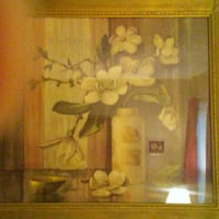 Framed Art: Magnolia painting. P/U Collierville