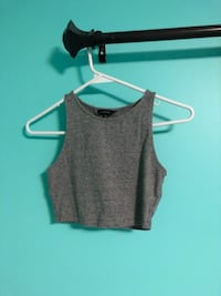 GREY SLEEVE LESS CROP TOP London, N5X 0H2