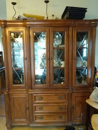 brown wooden display cabinet Front Royal, 22630