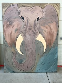 Painting of gray elephant