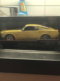 1970 gul Ford Mustang Boss 429 die-cast modell