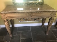 Tall wooden table with marble top Randallstown, 21133