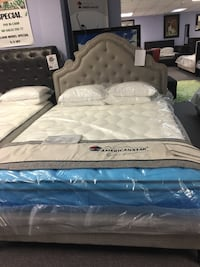 Queen tufted bed. Brand new. Mattress is not included.  Carrollton, 75006
