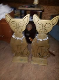 HALLOWEEN DECOR gold colored wooden cat statues North Charleston, 29418