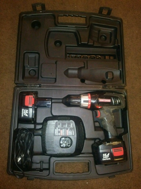 black and gray cordless power drill