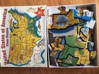 Melissa & Doug 48 Piece Deluxe United States Map Cardboard Floor Puzzle STEM TOY Hoffman Estates, 60192