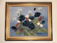 """""""Blue Flowers mural"""" oil on canvas by Cleo 954 mi"""