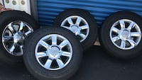 Infinity truck tires and rims p265/70/r18 all season CONTINENTAL TIRES