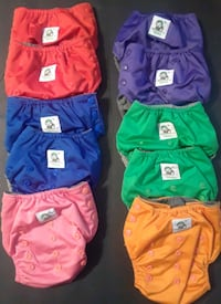 10 Cool Baby Cloth Diapers w/inserts