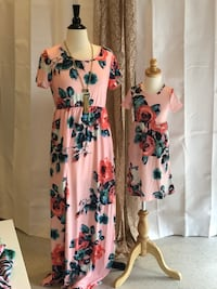 white, pink, and blue floral sleeveless dress Pinellas Park, 33781