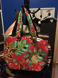 red, green, and black floral tote bag Jersey City, 07306