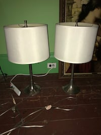 two white-and-gray table lamps New Orleans, 70124