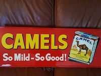 Camel metal advertising board Waltham, 02452