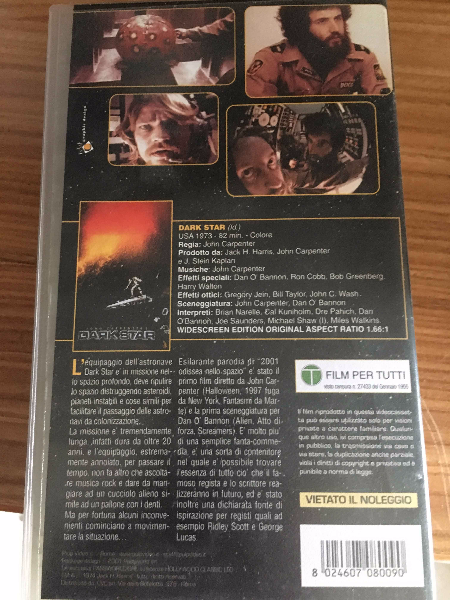 VHS JOHN CARPENTER'S DARK STAR Mezzanino