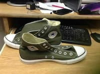 pair of green Converse high-top sneakers