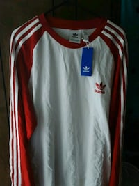 Red & White Long Sleeve Adidas 2XL Shirt with Tags North Charleston, 29405