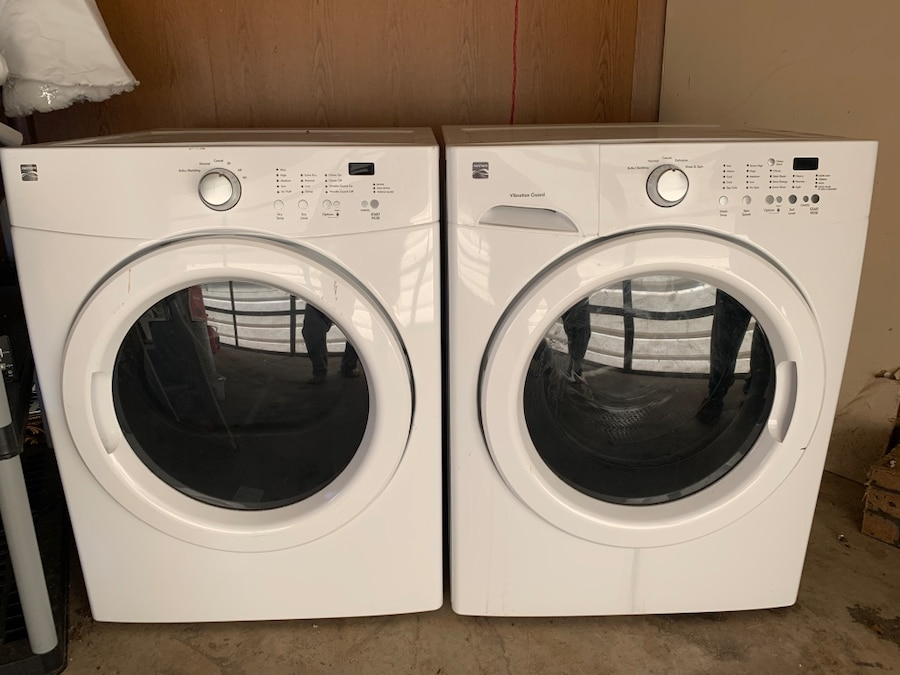 Photo Kenmore Front-Load washer and dryer