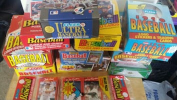 1000 New and Unopened Baseball or Football Cards