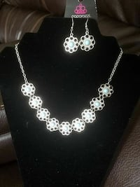 silver and blue necklace and earrings Rocky Mount, 27801