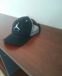 black and gray Air Jordan fitted cap