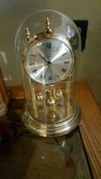 round gold-colored analog clock (glass casing) Brooklyn, 11212