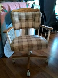 brown and white plaid padded armchair Edwardsburg, 49112