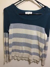 black and gray stripe scoop-neck sweater Arlington, 22204