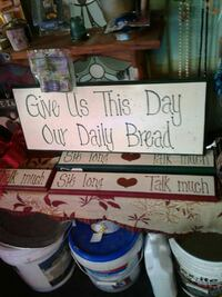 Give Us This Day Our Daily Bread wooden signage Kearneysville, 25430