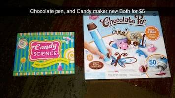 Chocolate pen and candy maker.