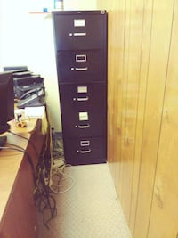 Black 4 Drawer File Cabinet