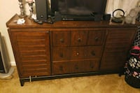 brown wooden dresser with mirror 49 km