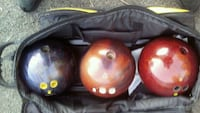 STEELERS BOWLING BAG with 3 bowling balls