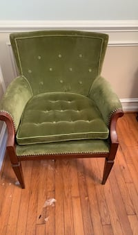 Green velvet vintage chair