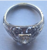 Floral Filagree white gold antique ladies engagement ring 1920s Midwest City, 73110