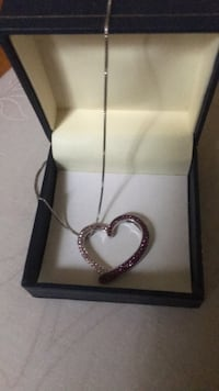 Silver-colored heart pendant necklace 52 km
