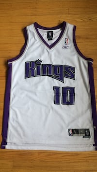 White and purple Mike Bobby  kings jersey