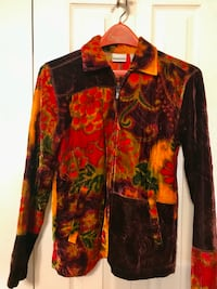 Ladies CHICO Sz Small Velvet Jacket