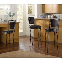 Set of 3 - Adjustable Bar Stools 24-30 inches ALEXANDRIA