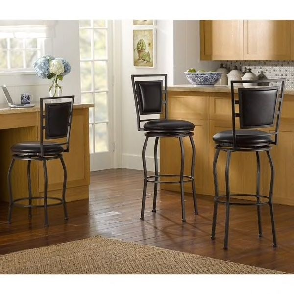 Set of 3 - Adjustable Bar Stools 24-30 inches