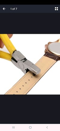 Hole punching wristwatch.