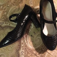 Black leather chunky heels Worcester, 01603