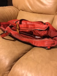 Red leather Coach bag West Covina, 91790