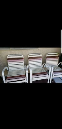 four white framed armchairs North Las Vegas, 89031