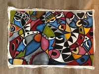 Authentic African Art - Canvas Abstract Art Durham