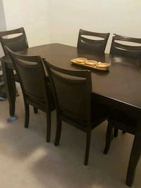 Obo brown wood table.  Watsonville, 95076