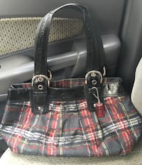 Authentic plaid Coach handbag in used condition  comes from a smoke friendly home Dunmore, 18512