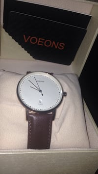 Brand New Voeons leather strap watch never worn with BOX Toronto, M1C 3M3