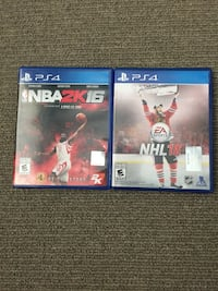 two PS4 game disc cases