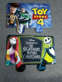 Toy Story 4 & Nightmare Before Christmas cardboard signs  Toronto, M9N 1Z5